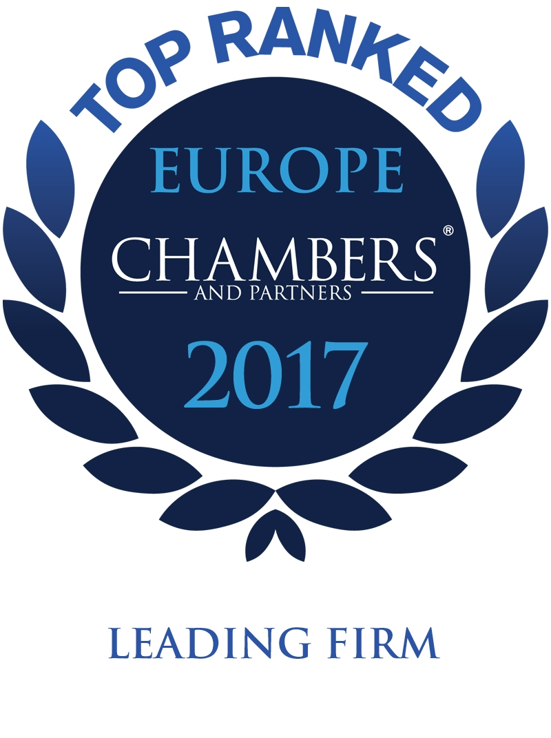 Chambers and Partners Europe 2017 top ranked awards